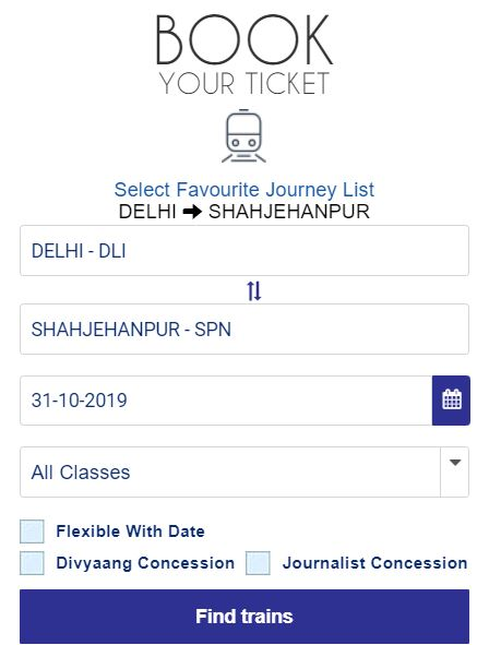 rail ticket kaise book karet hain