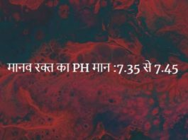 मानव रक्त का PH मान कितना