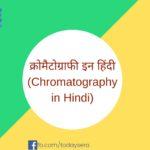 क्रोमैटोग्राफी इन हिंदी Chromatography in Hindi